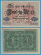 DEUTSCHES REICH 50 MARK 05.08.1914 ALPHA L.520206x P# 49b - 50 Mark