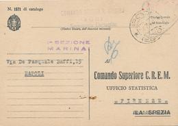 1940 FRANCHIGIA MARINA MILITARE  RODI EGEO GULER + OVALE VIOLA COMANDO SERVIZI MARINA EGEO - 1900-44 Victor Emmanuel III