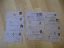 Lot De 23 Entier Postal Entier Postaux Sage 10 C Carton Violet Obliteration - Entiers Postaux