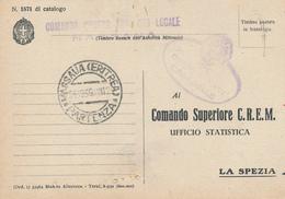 1939 FRANCHIGIA MARINA MILITARE  MASSAUA ERITREA+ GRUPPO NAVI USO LOCALE AL VERSO INDICAZIONE PIROSCAFO REQUISITO CARMEN - Correo Militar (PM)