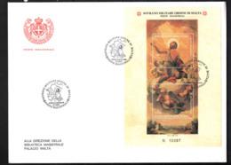 SMOM - 2001 - EFFIGIE DI SAN GIOVANNI BATTISTA CONSERVATO NELLA CAPPELLA DEL PALAZZO MAGISTRALE (ROMA) - FDC - Sovrano Militare Ordine Di Malta