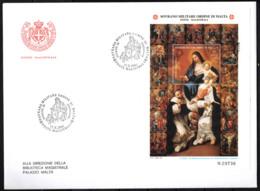 SMOM - 2001 - LA MADONNA DEL ROSARIO CON I SANTI DOMENICO E CATERINA - DIPINTO DI FILIPPO NALDINI - FDC - Sovrano Militare Ordine Di Malta