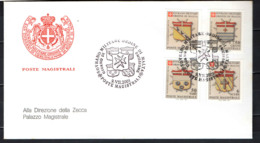 SMOM - 2001 - STEMMI DEI GRAN PRIORI - 4^ EMISSIONE - FDC - Sovrano Militare Ordine Di Malta