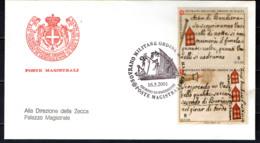 SMOM - 2001 - STORIA DELLA MARINA DELL'ORDINE - 5^ EMISSIONE - FDC - Sovrano Militare Ordine Di Malta