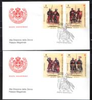 SMOM - 2001 - UNIFORMI E COSTUMI DELL'ORDINE - 1^ EMISSIONE - FDC - Sovrano Militare Ordine Di Malta