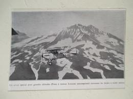 Chili (Andes) Essai Avion Potez Bilan En Grande Altitude - Moteur Surcomprimé Lorraine   - Coupure De Presse De 1930 - Historical Documents