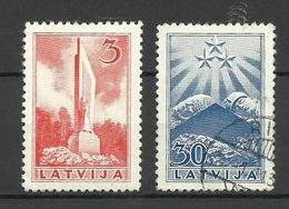 LETTLAND Latvia 1937 Michel 246 & 251 */o - Lettland