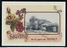 TESTELT ....gare + Train 2  Cartes  Souvenirs Souvenir Creation Moderne Serie Limitee - Belgium