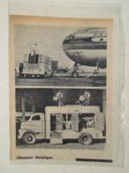 """USA Camion Batterie Mobile  """"Allumoir Electrique"""" Avion PAN AM """"Clipper America Aircraft"""" - Coupure De Presse  De 1948 - LKW"""