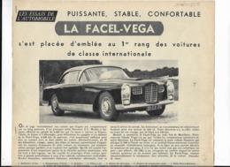 L'Automobile Juillet 1956 4 P Dont 3 Pages FACEL VEGA + 1 P FORD THUNDERBIRD - Voitures