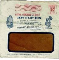 LETTRE 14 JANVIER 1930 AFFRANCHISSEMENT MECANIQUE , PANTIN 4 CHEMINS, ENV PUB ARTOFEX - France