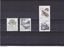 SUEDE 1984 ANIMAUX ET PLANTES Yvert 1256-1259 NEUF** MNH - Suède