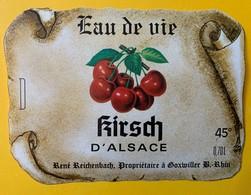 13005 -  Kirsch D'Alsace 7 étiquettes - Etiquettes