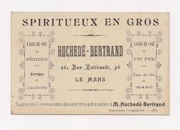 CARTE DE VISITE - LES VIGNERONS LIBRES  De MARAUSSAN - Entrepot HUCHEDE LE MANS - - Visiting Cards