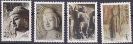 China, 1993-13, Mi.Nr. 2492/95, MNH **, Höhlentempel In Der Longmen-Schlucht. - 1949 - ... People's Republic