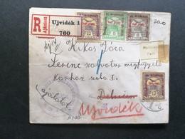 HUNGARY - REG. LETTER UJVIDEK TO DEBRECEN TO RETURN - KUK UJVIDEK CENSURE - 1916 - Ungarn