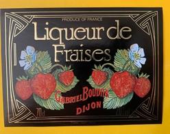 13010 - Liqueur De Fraises Gabriel Boudier Dijon - Etiquettes