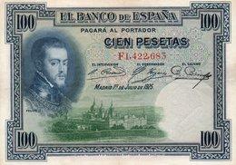 SPAIN 100 PESETAS 1925  P-69c.2  XF++AUNC - [ 1] …-1931 : Prime Banconote (Banco De España)