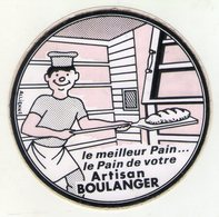 STICKER .. AUTOCOLLANT . LE MEILLEUR PAIN . LE PAIN DE VOTRE  . ARTISAN  BOULANGER . ( Orange Fluo ) - Stickers