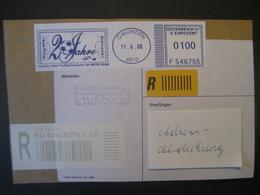Österreich- Maschinenwerbestempel Gmunden 11.6.08 20 Jahre Margreiter Briefmarken Reko Auf Briefausschnitt - Marcofilia - EMA ( Maquina De Huellas A Franquear)