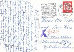 AK BRD , Der Vordere Odenwald, EF Mit Amtlich Ergänzter DDR PLZ - Storia Postale