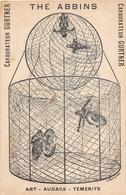 """Les Acrobates """" THE ABBINS """" - Motos - Art, Audace, Témérité - Carburateur Gurtner -  Illustrateur """" L. Rouillard """" - Entertainers"""