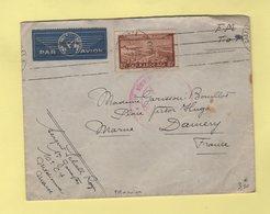 Maroc - Casablanca - FM + Avion - 1939 - Destination France - Storia Postale