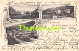 CPA SOUVENIR DE LASAUVAGE FRANCE TRAIN GARE CHENMIN DE FER BELLWALD ECHTERNACH LUXEMBOURG - Esch-sur-Alzette