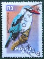 R3 Flora And Fauna Woodland Kingfisher Bird Vogel  2000 2001 Mi 1306 Y&T - Used Gebruikt Oblitere SUD SOUTH AFRICA RSA - Afrique Du Sud (1961-...)