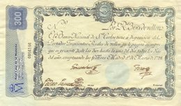 SPAIN 300 DE VELLON 1798 -REAL CASA DE LA MONEDA-2002  SERIE 0086146  FILIGRAN LETTERA M - [ 1] …-1931 : Prime Banconote (Banco De España)