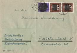 AB Deutsche Lokalausgabe Bedarfs Brief Netzschkau 25.7.1945 Mit MI.2 Paar + Sächsische Schwärzung Mif. - Allemagne