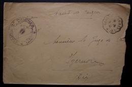 Ceignes (Ain) 1941, Cachet De La Mairie + Convoyeur Cerdon à Ambérieux, Sur Lettre Pour Izernore - Marcophilie (Lettres)