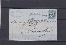 BEAUVAIS ( OISE )  GC 404  + LAC+  N°60C -pour CHAMBERY -  25 OCT. 1875 - REF 1338 + Variété - Postmark Collection (Covers)