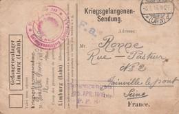 05-05-1916 : Carte De Prisonnier Français Du Limburg (Lahn), Griffe Eingegangen - Otros