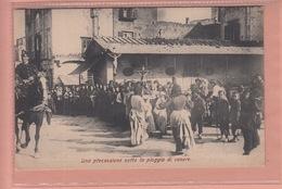 OLD  POSTCARD - ITALY -   NAPOLI -  UNA PROCESSIONE SOTTO LA PIOGGIA DI CENERE - TYPE - Napoli (Naples)