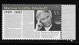 Germany 2009 Marion Grafin Donhoff MNH - [7] Repubblica Federale