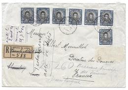 1924 - SANTIAGO PUENTE ALTO CHILI CHAMBERY SAVOIE RECOMMANDE 588 OFICINA DE ORIJEN MERMILLOD DOUANES - SUR ENVELOPPE - Cile