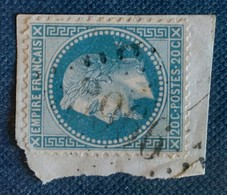 LOSANGE GROS CHIFFRES 3966 DE TOCANE ST APRE - 1863-1870 Napoléon III Lauré