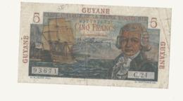 CA31billet De Banque De Guyane 5F Bougainville - Guyane Française