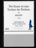 Germany 2009 Johann Christoph Freidrich Von Schiller MNH - [7] Repubblica Federale
