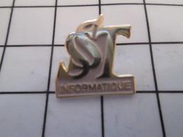 716c Pin's Pins / Beau Et Rare / THEME : INFORMATIQUE / SST - Informatique