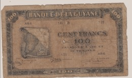 CA32 Billet De La Guyane Française Type Américain WWII (carte) - Frans-Guyana