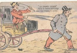 ILLUSTRATION - BREN - LES FEMMES COCHER  Voila Les Femmes Sur Le Siège.... Voir Cachet Scann Verso - Autres Illustrateurs