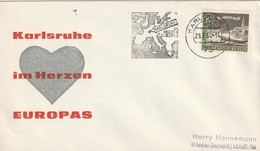 "Obl. Mécan. Illust. Sur Env. ""Im Herzen Europas"" (Karlsruhe, 75) Du 29-07-1964 - Storia Postale"