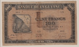 CA33billet De Banque De Guyane Française Type Américain  ( Carte) - Guyane Française