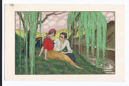 Gobbi    Couple Romantique CPSM  Pas écrite  Ed Italie Majestic - Otros Ilustradores