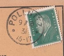 Deutsches Reich Karte Mit Tagesstempel Pollnitz 1931 Kr Schlochau RB Marienwerder Westpreussen Werbung Schwein - Deutschland