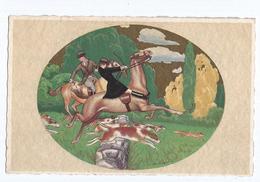 Gobbi  Couple Romantique CPSM  Pas Voyagé Mais écrite  Ed Italie CCM Cavaliers, Chiens, Chasse à Courre - Otros Ilustradores