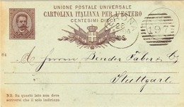 Da Verona Per La Germania Intero Postale Per L'estero Mill. 84 Bollatrice Dani Con Numerale A Sbarre 197 - Entiers Postaux