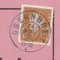 Deutsches Reich Karte Mit Tagesstempel Obernbreit 1931 Marktbreit Lk Unterfranken - Storia Postale